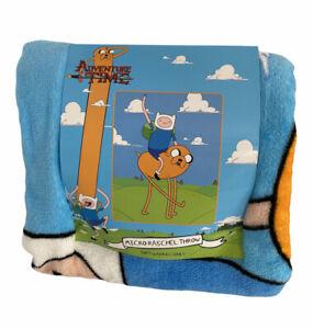 Cartoon Network Adventure Time Throw Blanket Jake and Finn Hot Topic