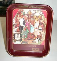 """Vintage Norman Rockwell & Lasser's Beverages """"April Fools Day"""" Metal Tray 1976"""