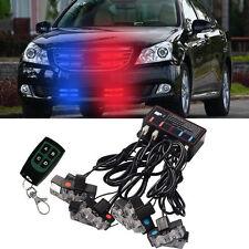 8 LED Car Truck Wireless Red Blue Warning Light Strobe Lights Bars Dash Grill US