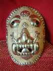 Tibetan Good Size Kapala Buddhist decorated Turtle shell Mask.