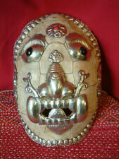 More details for tibetan good size kapala buddhist decorated turtle shell mask.