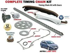 FOR VAUXHALL ASTRA  1.3 CDTi 2004-->NEW TIMING CAM CHAIN KIT SET + GEAR + FLANGE