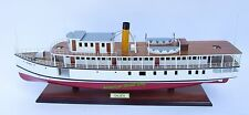 """Calista Steamboat Ship Model 28"""" - Handcrafted Wooden Ship Model NEW"""