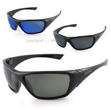 Lunettes de protection soleil noir polarisé bleu Bollé Safety Hustler sunglasses