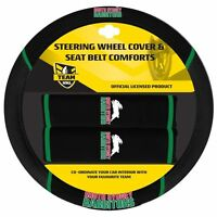 NRL Steering Wheel Cover - Seat Belt Covers - South Sydney Rabbitohs