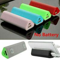 5000mAh Power Bank Case Ladegerät USB Externe Batteriebox Für Handy Universal DE