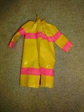 Vintage Barbie Vinyl Yellow & Pink Raincoat - Purple tag