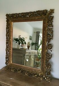 19th Century Roccoco Very Large Mirror, Authentic ,Needs Restoration