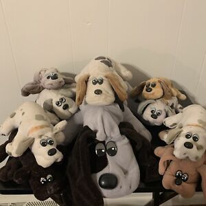 VTG LOT 10 Pound Puppies Purries Dogs Plush Doll Toys 1980s Tonka Babies