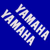 Yamaha WHITE 13in 33cm decal decals sticker stickers yz motogp r6 keyboard yzf