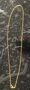 Men and Women's Shiny Gold Plated (18K) Necklace/Chain. 18 Inch.
