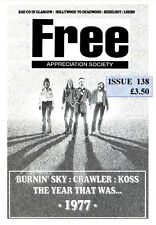 FREE APPRECIATION SOCIETY #138 April 2017 Paul Kossoff Rodgers Kirke Fraser