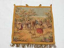 Vintage French Beautiful Scene Tapestry 50x50cm (T1079)