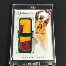 LEBRON JAMES 2015 PANINI FLAWLESS EMERALD DUAL PATCH #'D /5 THE KING NBA RARE