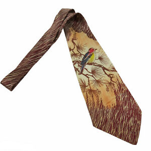Vintage 1940s 1950s Wide Bird Necktie