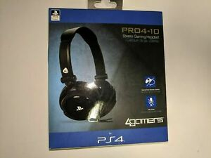 PLAYSTATION 4 GAMING CHAT HEADSET + MIC CONTROL * 4GAMERS PRO4-10 PS4 PC PS5