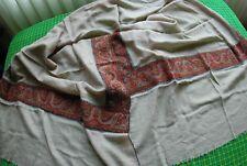 KASHMIR HAND woven Shawl Stole 100% pure Pashmina  plain with antique borders