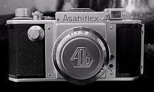 COLLECTOR'S ASAHIFLEX IIA BODY w/f 3.5 50MM ASAHI-KOGAKU TAKUMAR LENS NEAR MINT