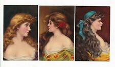6 x GLAMOUR PORTRAITS vintage ARTIST  postcards BB Series No.H1
