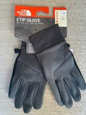 The North Face mens ETIP Touch Touchscreen Gloves Dark Grey Heather size M