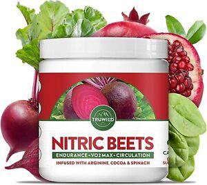 Nitric Oxide Booster Beets Supplement - L-Arginine, L-Citrulline - 90 Capsules