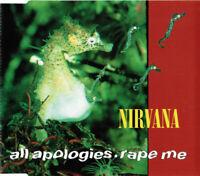 Nirvana Maxi CD All Apologies • Rape Me - Europe (VG+/EX+)