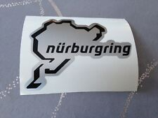 Sticker Nurburgring Circuit Auto Moto Tuning Scooter Helmet Quad Bike Grey/Blk