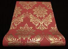 13373-44) Design Vliestapete Glamour Barock Ornament  rot gold