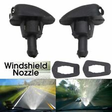 2Pcs Universal Car Window Windshield Sprayer Spray Nozzle Wipper Washer Black
