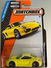 Matchbox #1 2014 Porsche Cayman Yellow Coupe Car MBX Adventure City