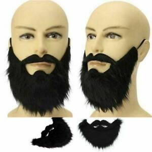 Fake False Mens Moustache Fancy Dress Costume Black Beard Hair Halloween Props
