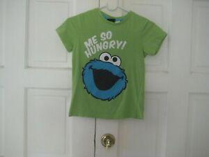 Boys Sesame street *COOKIE MONSTER*  Green T- Shirt * Size 6- 8
