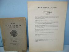 Vintage Norwich Free Academy Catalogs: 1910-1911 and 1964-1965, Norwich, Conn.