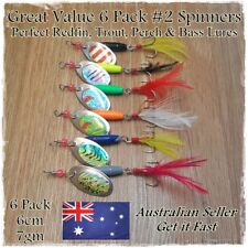 Redfin & Trout Fishing Lures Spinners Spoon Metal Lures Perch, Yellowbelly 6pk