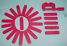 Lot of 23 Hot Wheels Redline Era Track Joiners Connectors & 1 Purple Track Clamp