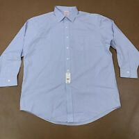 Brooks Brothers Men's Size 17-33 MADISON Pale Blue Long Sleeve Shirt NWT *flaw*