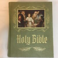 Holy Bible Master Reference Edition Heirloom KJV Red Letter Green Cover 1971 FS!