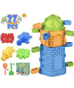 chriffer beach castle toys 27 pc set new
