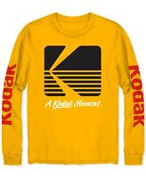 Kodak Men's T-Shirt Gold Yellow Size Large L Logo Graphic Crewneck Tee $26 250