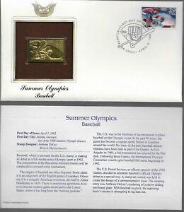Summer Olympics--Baseball--1st day issue-Golden Replica