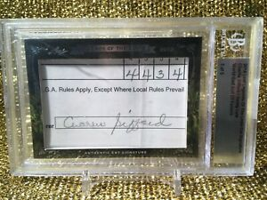 Charlie Sifford PGA Golf Leaf Legends of the Links Cut Signature Score Card BGS