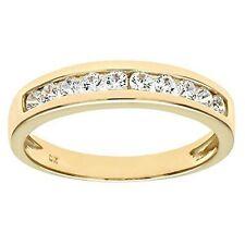Cubic Zirconia Eternity Yellow Gold Fine Rings