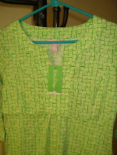 NWT ($228) Lilly Pulitzer Twyla Dress - Green and White -Graphic - Size: Small