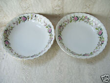 "Regency Rose Creative Fine China of Japan Two 5 1/2"" Desert Bowls Mint Condition"