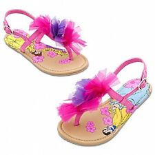 Disney Floral Princess pink Sandals for Girls Youth Size 9 NWT