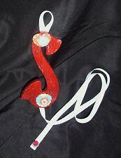 girls red letter S barrette bow hair accessories holder organizer storage