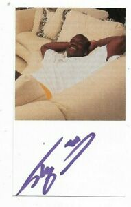 Shaquille O'Neal Signed Autographed 3x5 Index Card Orlando Magic HOF