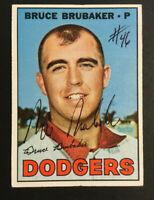 Bruce Brubaker Dodgers signed 1967 Topps baseball card #276 Auto Autograph
