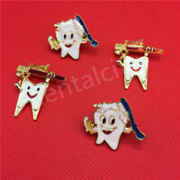 Dental Gift simle Badge Metal Tooth Type Shape Molar Brooch Badge Pin Adornment