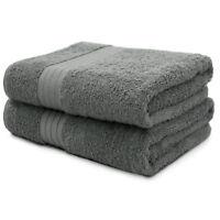 2-Piece Bath Towels Set for Bathroom | 100% Soft Cotton Turkish Towels - Gray
